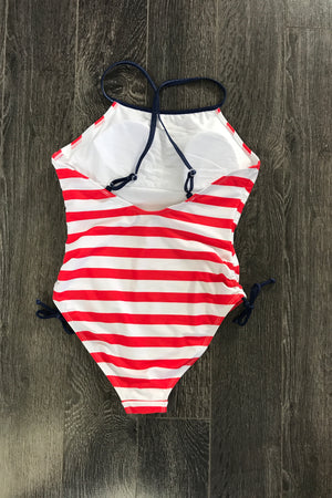 Nautical One Piece Swimsuit