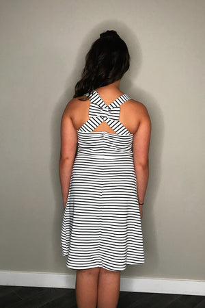 A-Line Dress with Back Bow