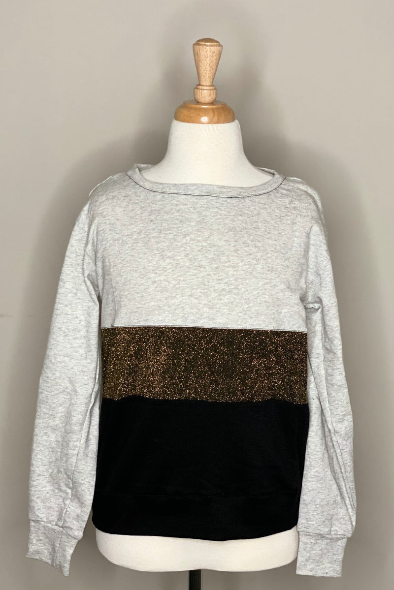 Long Sleeve Metallic Top