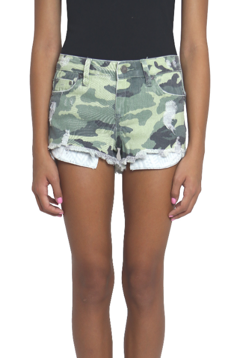 Five Pocket Camo Shorts