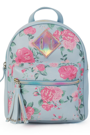 Rose Print Mini Backpack