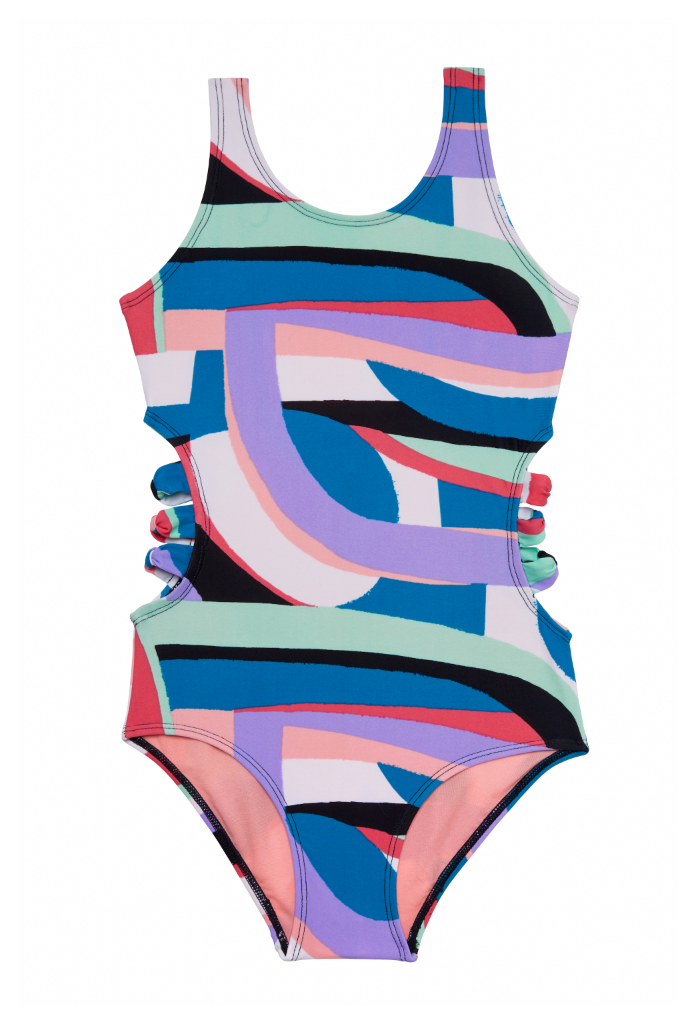 Flying Rainbow One Piece Swimsuit
