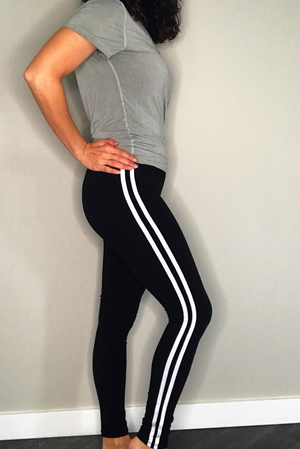 High Waist Legging With Athletic Stripe