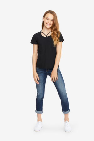 Trista Strappy Front Tee