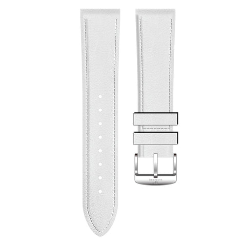 White Genuine Leather Strap - Sanpedro Watches