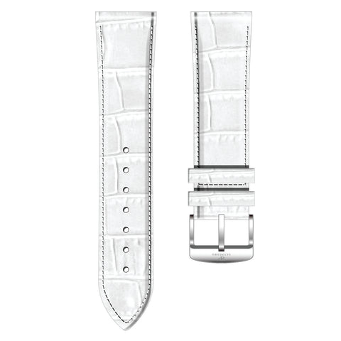 White  Alligator Pattern Leather Strap - Sanpedro Watches