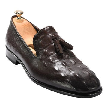 ZANE® Riccardo's Loafer in Brown Crocodile 4150BRN - ZANE FASHION