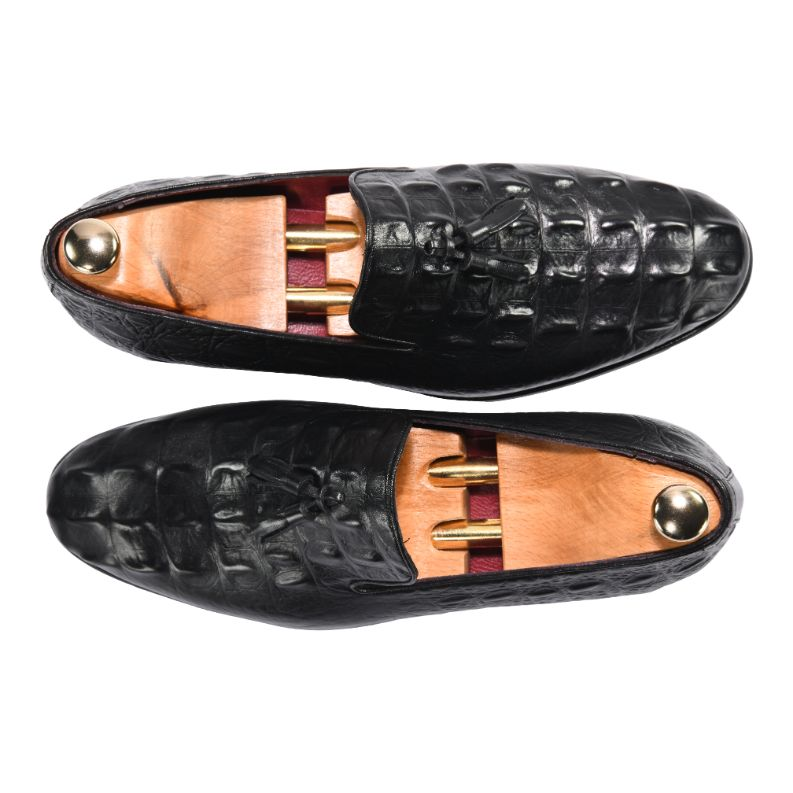 ZANE® Riccardo's Loafer Crocodile in Brown 4150BLK - ZANE FASHION