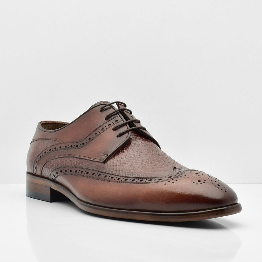 Paradise Road Brown Leather Shoes - ZANE FASHION