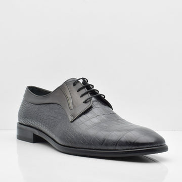 Moon Passage Black Leather Shoes - ZANE FASHION