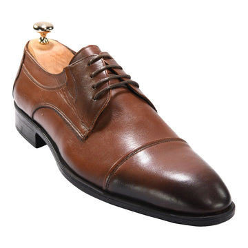 Jacopo Derby Classic in Brown 4251BRN - ZANE FASHION