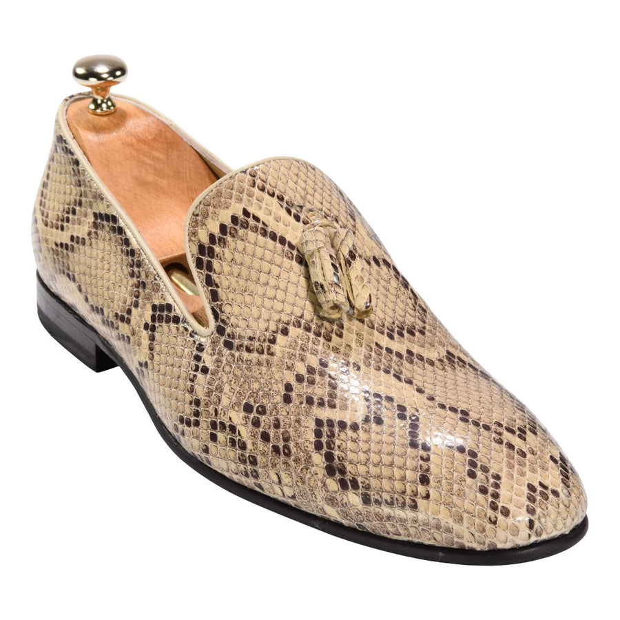 Federico Slip On in a Snake Patterns Beige 4500BEG - ZANE FASHION