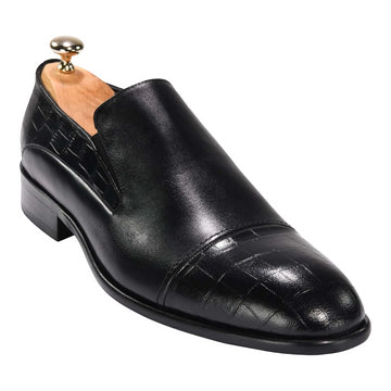 ZANE® Stefano's Loafer Crocodile Black 4502BLK - ZANE FASHION