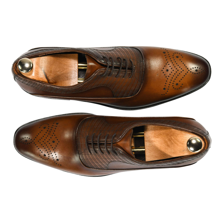 ZANE® Raffaello Derby Classic in Brown 4813BRN - ZANE FASHION