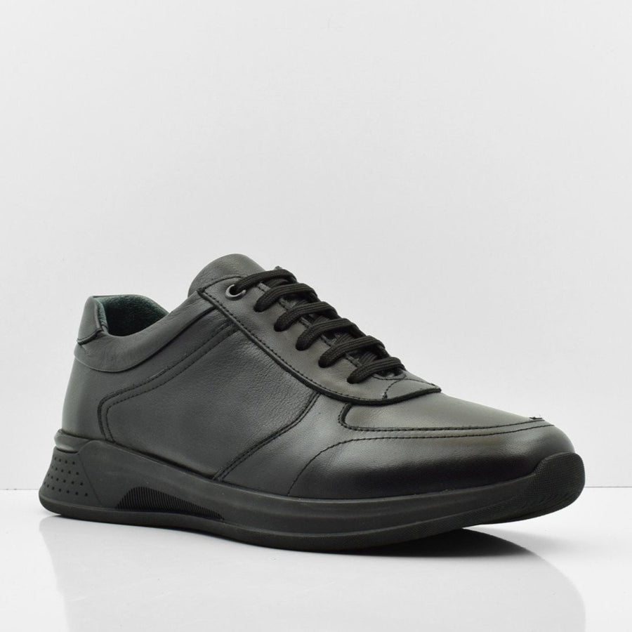 Gentle Dream Leather Black Casual Shoes - ZANE FASHION