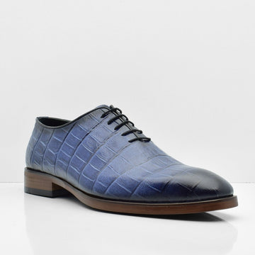 Blue Voyage Leather Shoes - ZANE FASHION