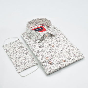 Pristine Floral Slim Fit Shirt - ZANE FASHION