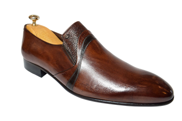 Brandon Brown Leather Shoes - ZANE FASHION