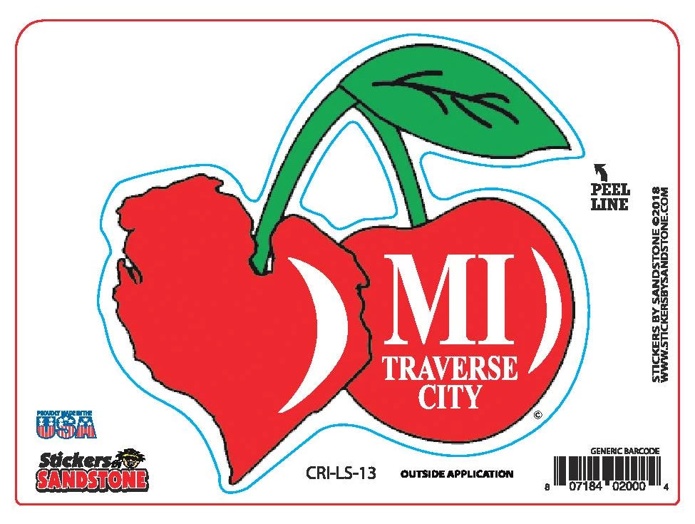Traverse City Cherry Sticker