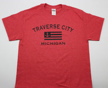 Load image into Gallery viewer, Traverse City Anchor Flag T-Shirt