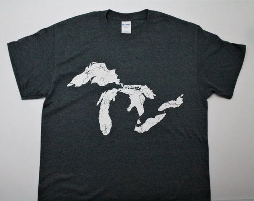 Great Lakes Full Map T-Shirt