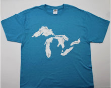 Load image into Gallery viewer, Great Lakes Full Map T-Shirt