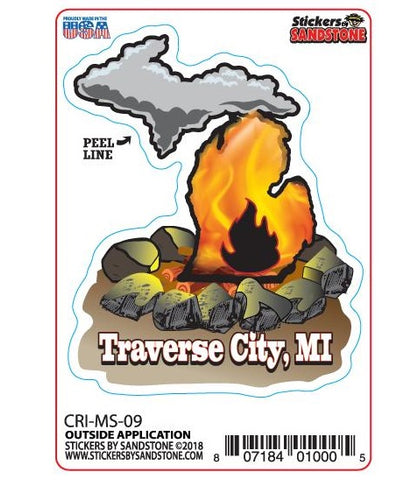 Michigan Bonfire Sticker