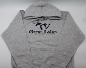 "Great Lakes ""No Salt, Sharks, Worries"" Pullover Hoodie"