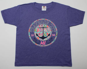 Traverse City Paisley Anchor Kids T-Shirt