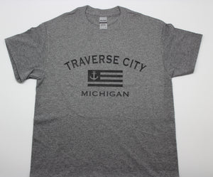 Traverse City Anchor Flag T-Shirt