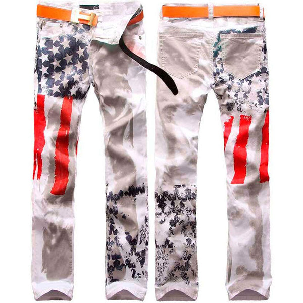 American Flag Proud Print Pants