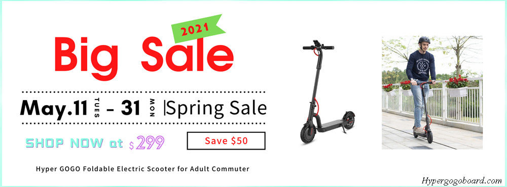 The Hyper GOGO foldable electric scooter is hot selling on Hypergogoboard.com now