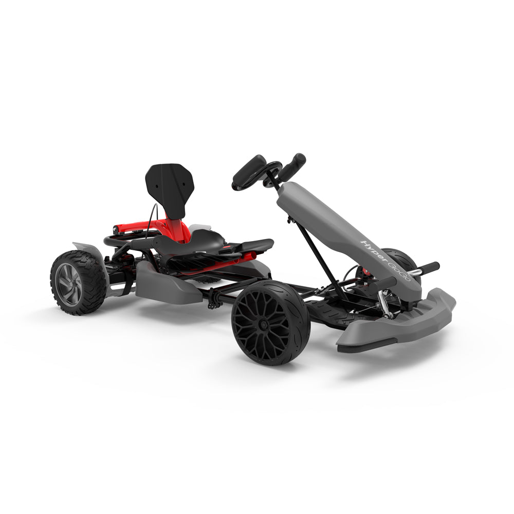 "Adult Pedal Go Kart - Grey Gokart with 8.5"" Off Road Hoverboard"