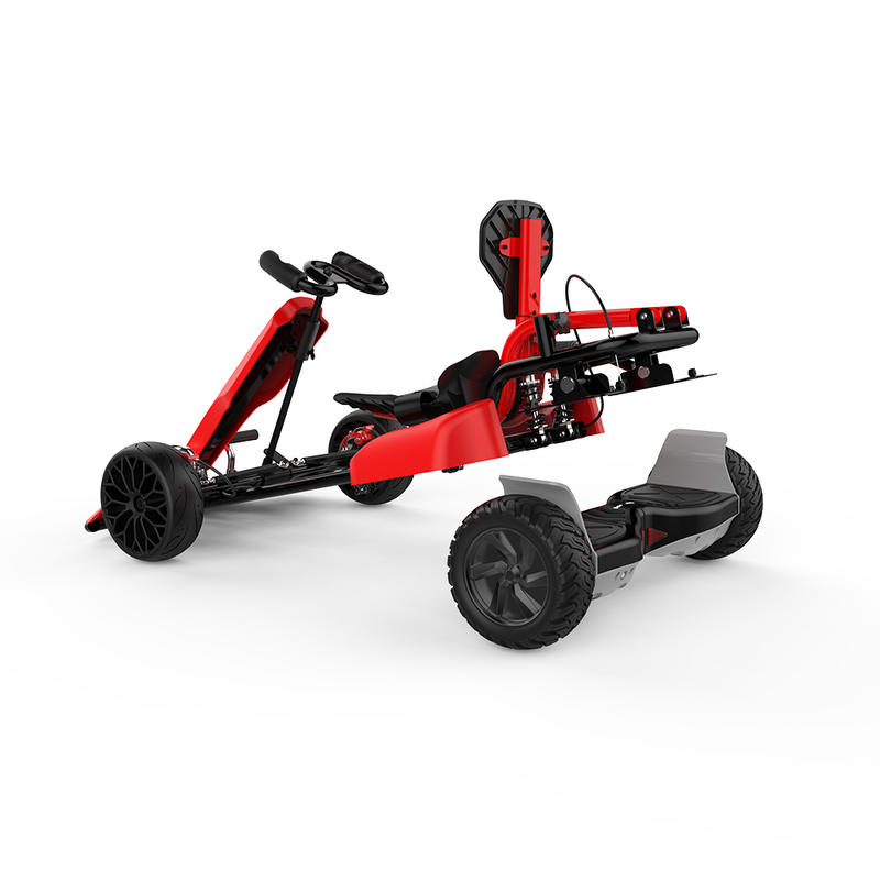 "Electric Gokart for Kids - Red Go kart with 8.5"" Off Road Hoverboard Outdoor Racing Car for Adults"