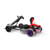 "Kids Pedal Go Kart - Grey Gokart and 6.5"" Off Road Pink hoverboard  for Girls"