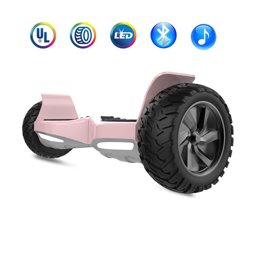 Rose Gold Hoverboard 8 5 Quot Off Road Wheels Electric Self Balancing Scoo