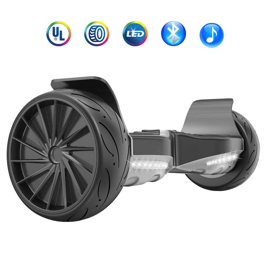 Hoverboard Sport 8.5 Inch Big Wheel Hover board Electric Balance Scooter with Bluetooth and LED Lights - Black