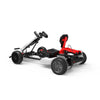 "White Off Road Go Kart for Kids and Adult - 8.5"" All Terrain Black Hoverboard & White Gokart - Back View"