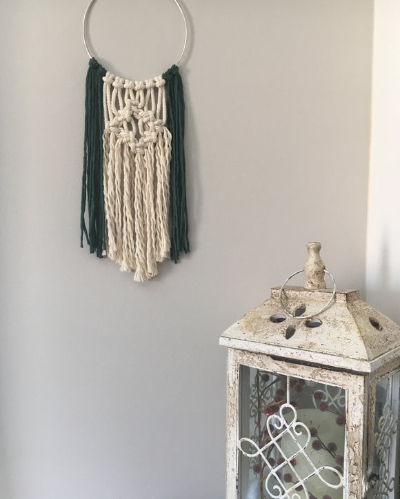 """Holly"" Macrame Hanger"