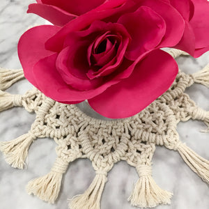 "The ""Florence"" Macrame Centerpiece"