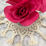 """The Florence"" Macrame Centerpiece"