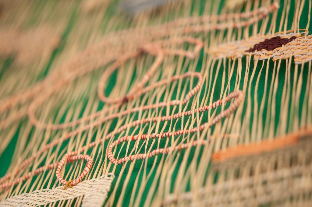 closeup of Audrey Ducas's weaving