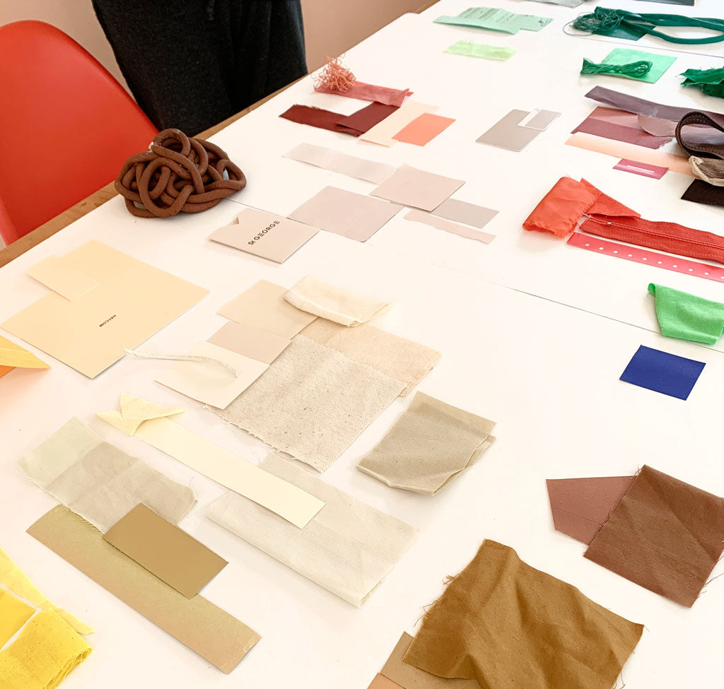 color swatches on a table