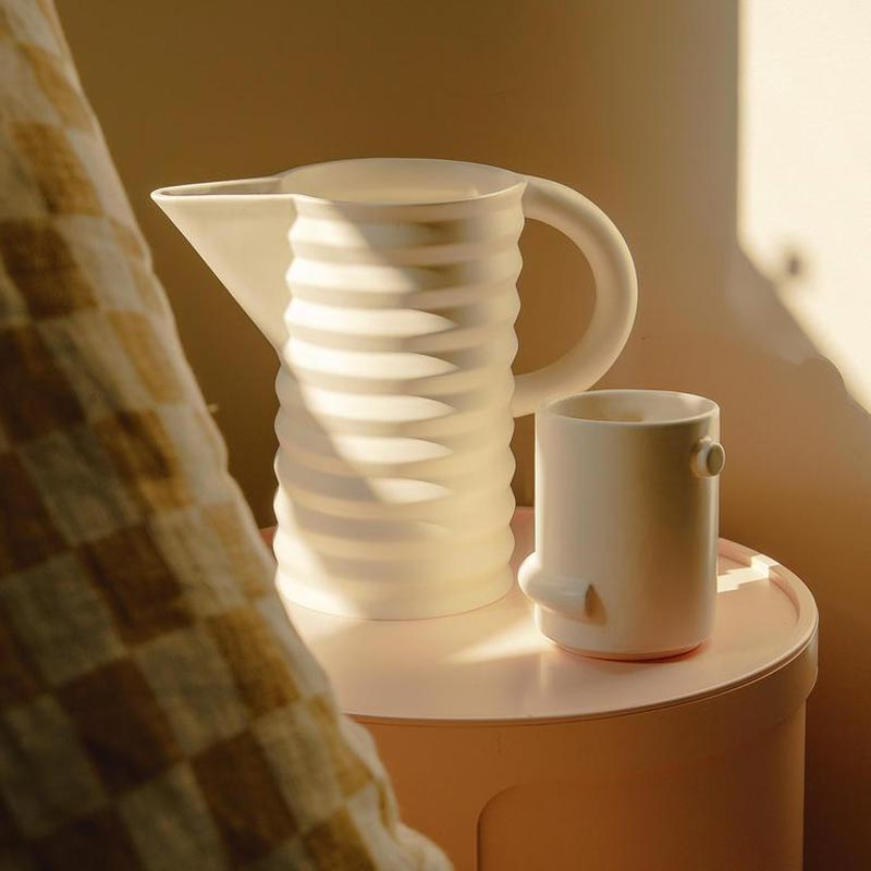 pleated pitcher and confetti cup by Natalie Herrera for Areaware