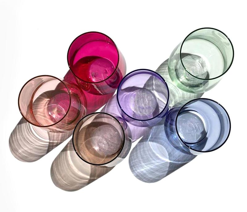 Stemless WIne GLasses by Estelle Colored Glass