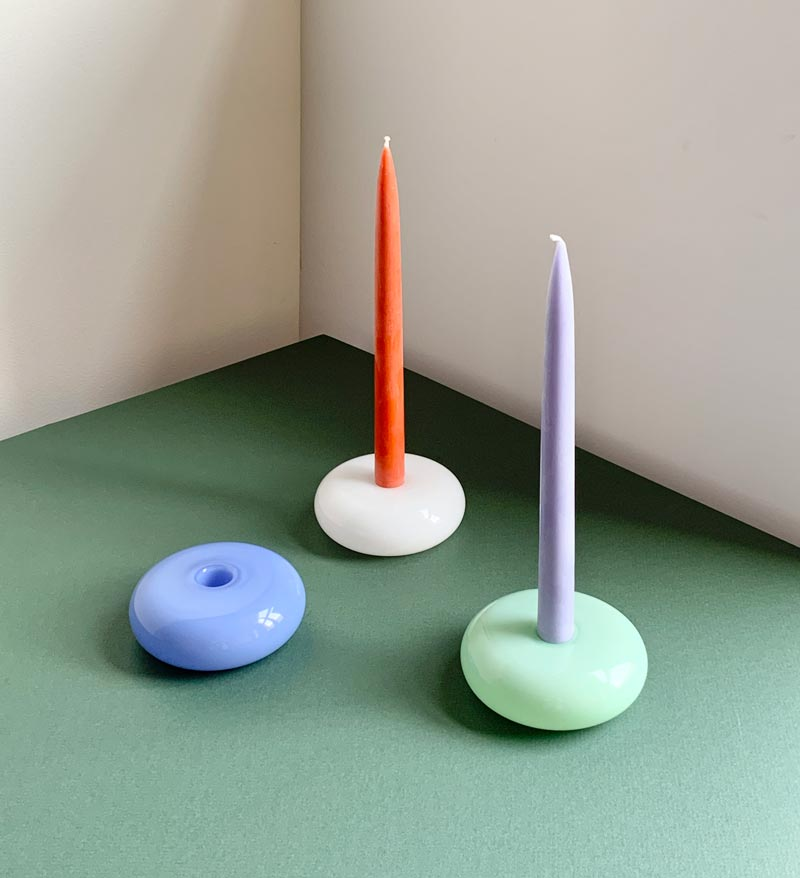 Galet candleholders