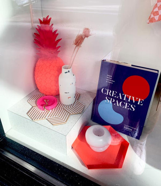 colorful items in a shop window