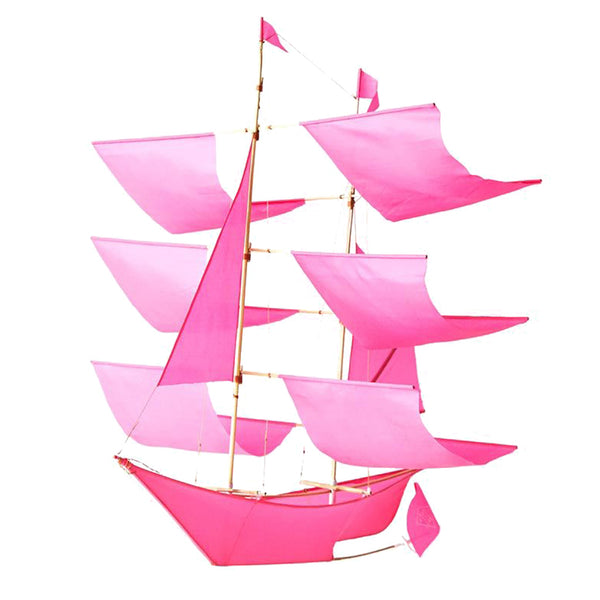 Sailing Ship Kite Hot Pink
