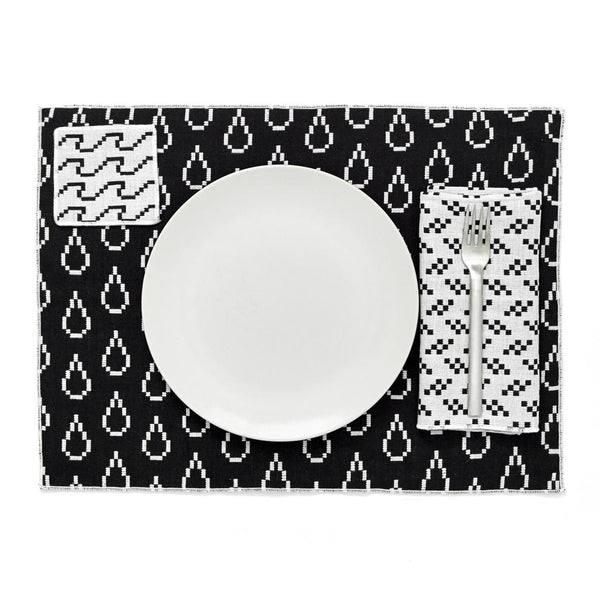Bitmap Placemats Black and White