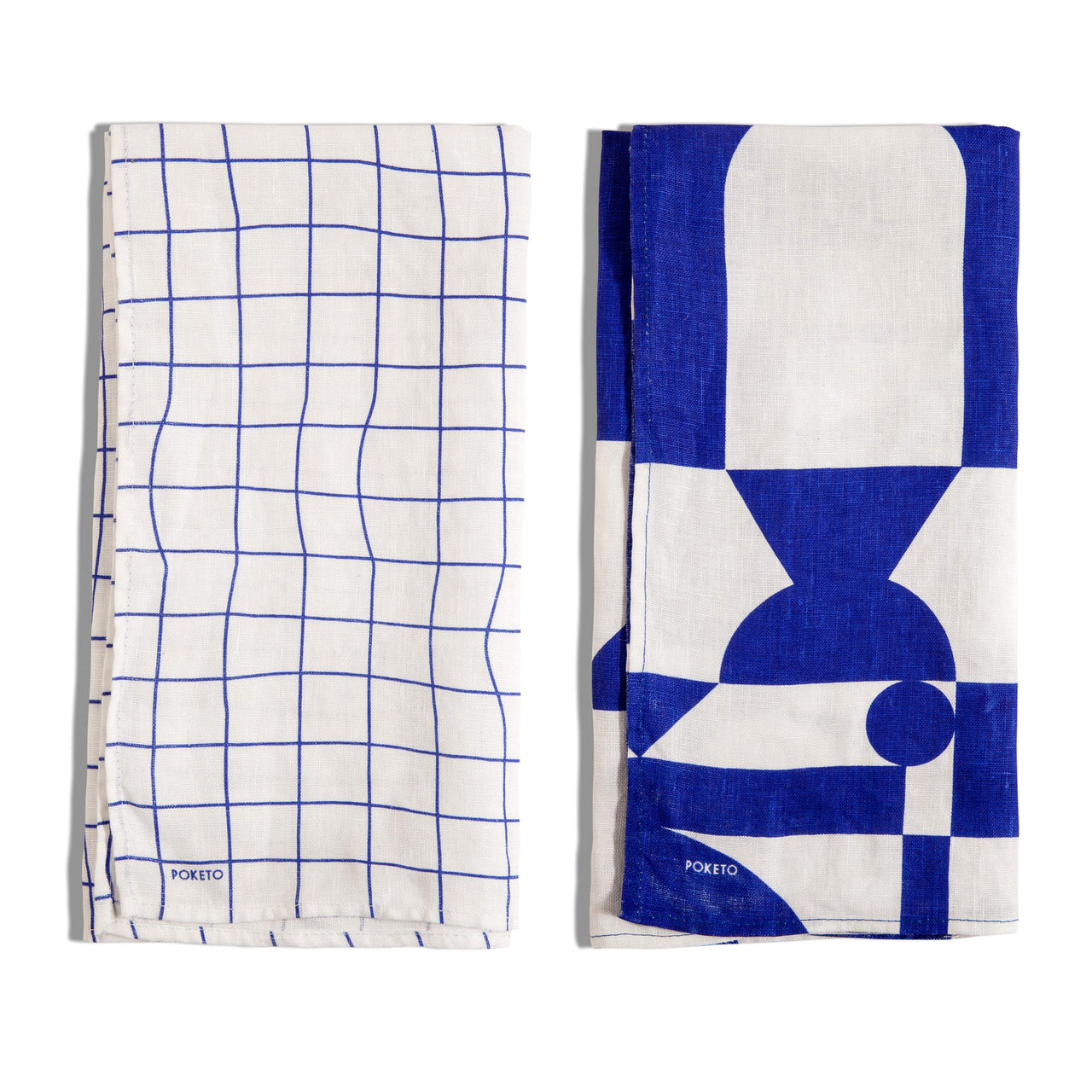 Linen Tea Towel Set Blue